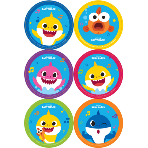 Baby Shark Stickers 24pk
