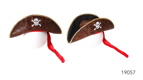 Deluxe Pirate Hat Brown
