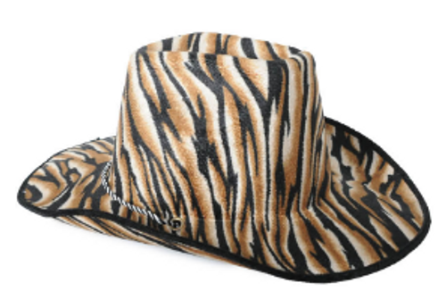 Cowboy Hat with Pattern (Brown Tiger)