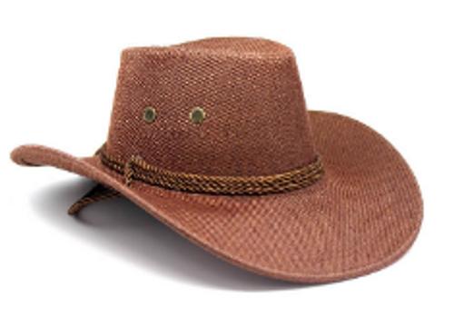 Hemp Material Cowboy Hat (Brown)