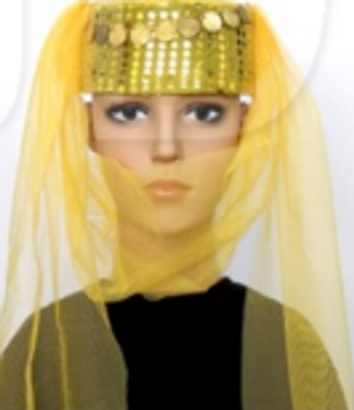Princess Veil Hat (Yellow)