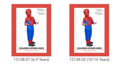 Children Spider Hero Costume  (10-12years)