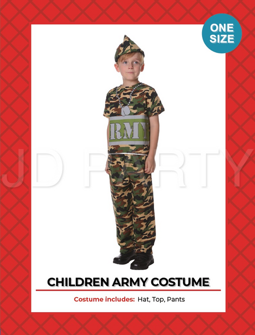 Children Army Costume