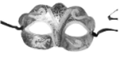 Fancy Glitter Mask (Silver)