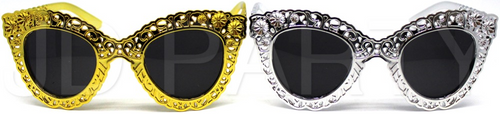 Party Glasses Pattern (Mixed) (Silver,Gold)