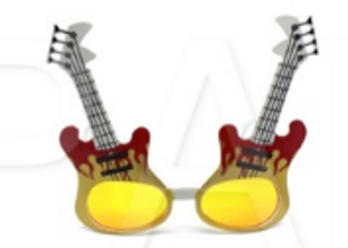 Party Glasses Guitar Rockstar 1
