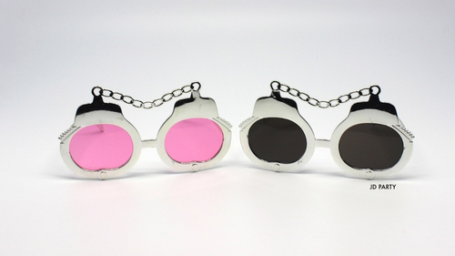 Party Glasses Hand Cuffs