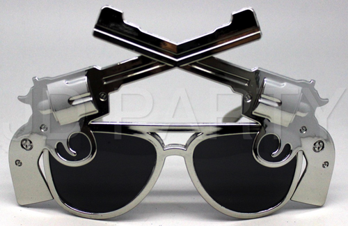 "Party Glasses With ""Gun"" (Gold & Silver Mixed)"
