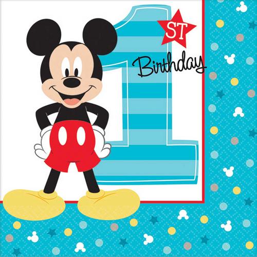 Mickey Fun To Be One B/Napkin