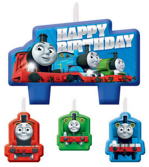 Thomas All Aboard BDAY Candle Set