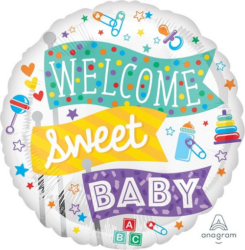 STD HX Welcome Sweet Baby Flags S40