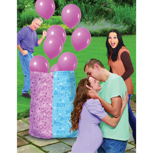 Baby Shw Pink Gender Reveal Balloon Sack - Girl