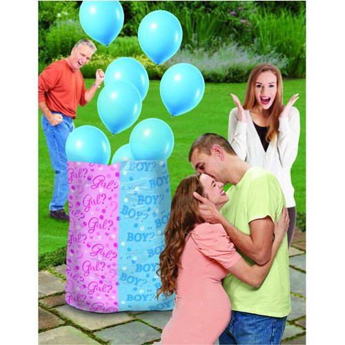 Baby Shw Blue Gender Reveal Balloon Sack - Boy