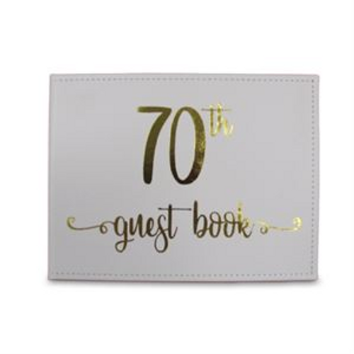 GUEST BOOK 70TH Gold