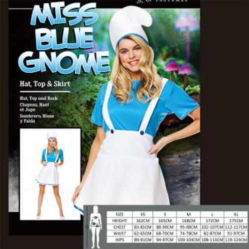 MISS BLUE GNOME SIZE S