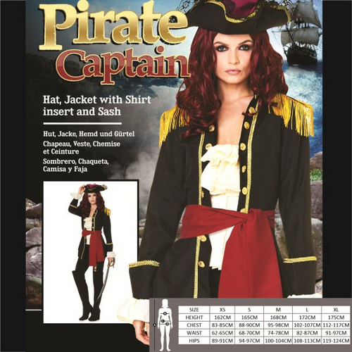 *PIRATE CAPTAIN SIZE S