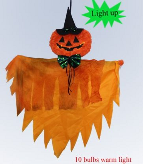 LIGHT UP HANGING PUMPKIN, 95CMX68CM X4CM