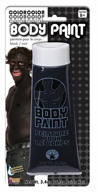 96.3 GRAM BLACK  BODY PAINT IN TUBE ON COLOUR CARD