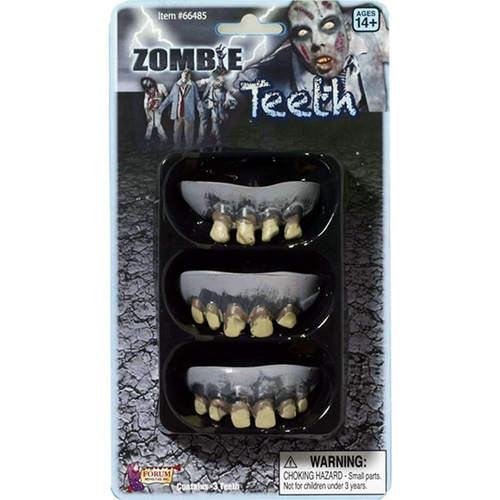 ZOMBIE ROTTED TEETH - 3 PACK