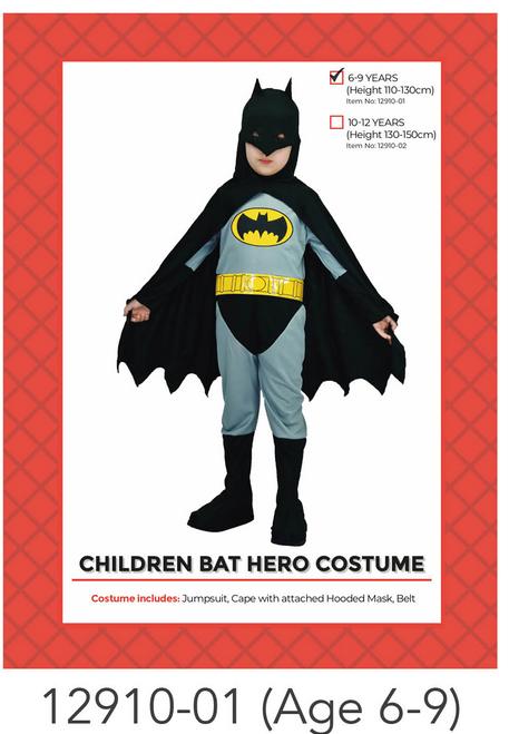 Children Bat Hero Costume (6-9 years)