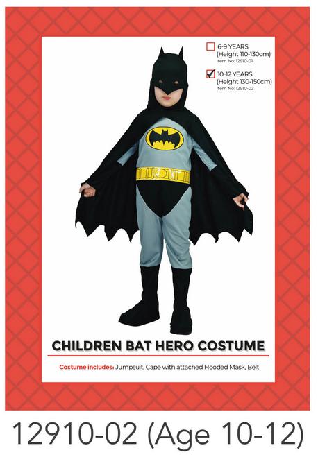 Children Bat Hero Costume (10-12 years)