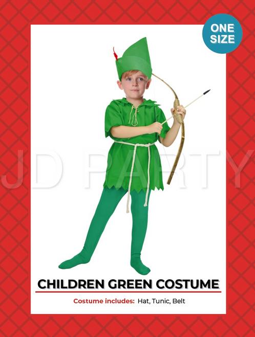 Children Green Peter Costume (8034)
