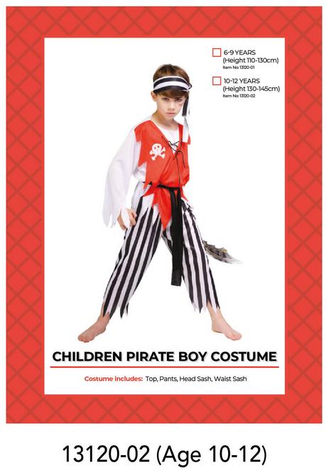 Children Pirate Boy Costume (10-12 years)