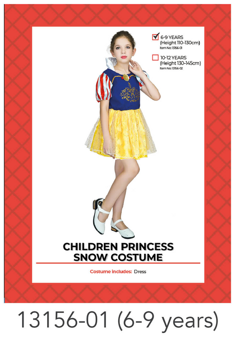 Children Princess Snow Costume (6-9 years)