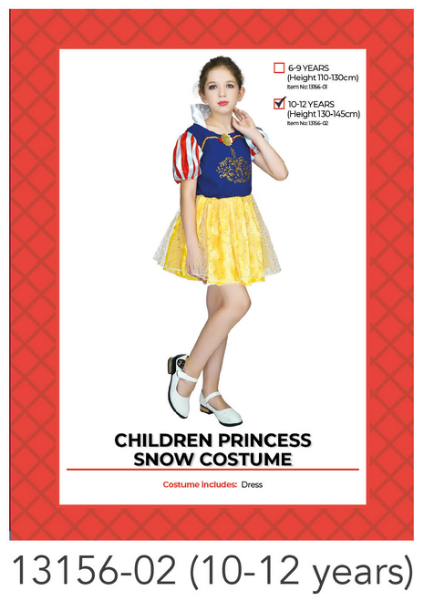 Children Princess Snow Costume (10-14 years)