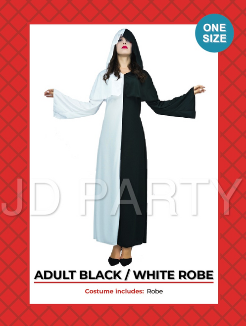 Adult Devil Black and White costume
