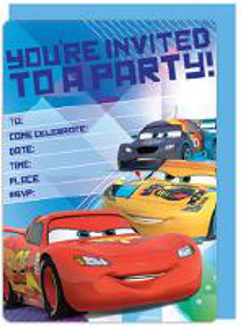 INVITE 16PK DSNY CARS