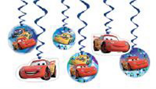 HANGING DECS 6PK DSNY CARS