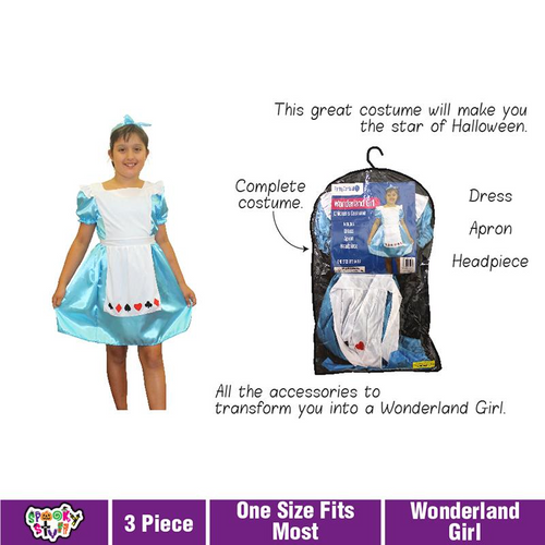 Costume Children Wonderland Girl