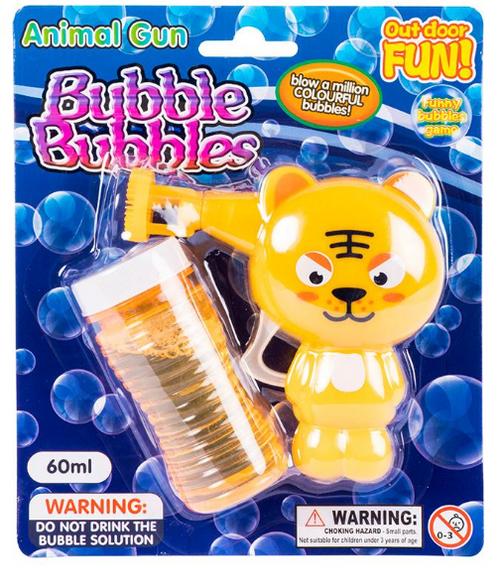 Bubble Gun Animal Set  60ml