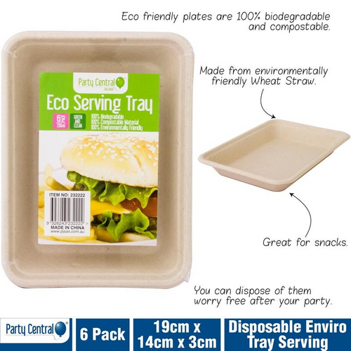 Enviro Disposable Tray Serving 350ml 6pk