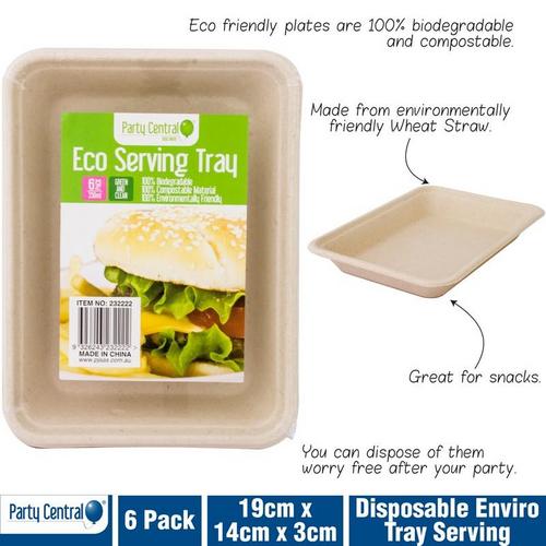 Enviro Disposable Tray Serving 350ml 6pk