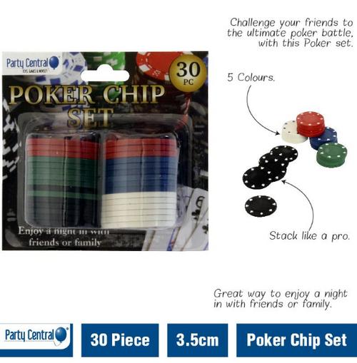 Poker Chip Set 30pc