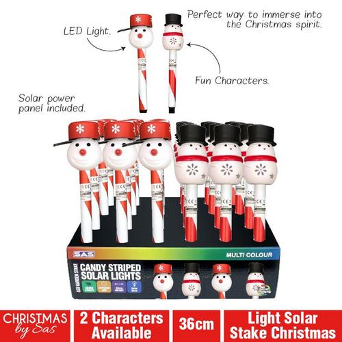 Light Solar Stake Christmas 36cm