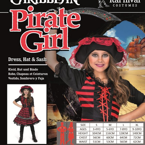 *CARIBBEAN PIRATE GIRL SIZE S