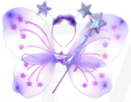 Butterfly Wing 3pcs Set (Purple)