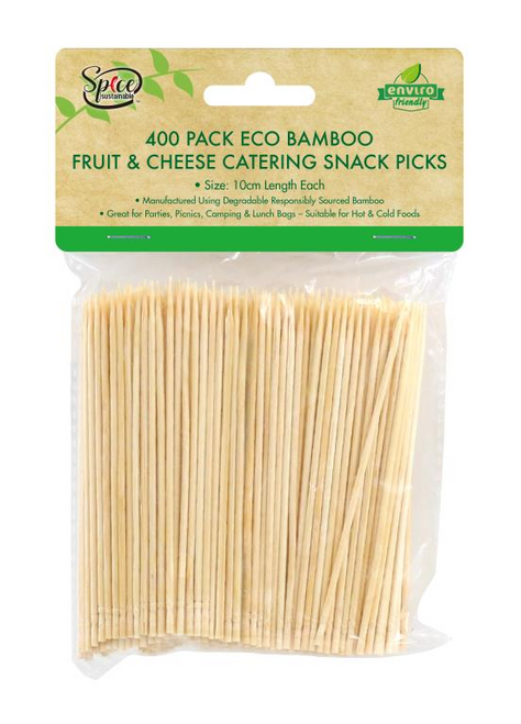 Bamboo Fruit & Cheese Catering Snack Picks-400PK