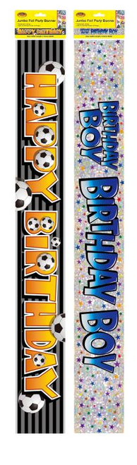 Jumbo Foil Party Banner - Boy Birthday Series