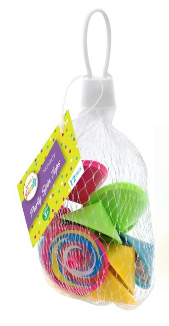 Loot Bag Party Fillers (Net Range) - Novelty Spin Tops- 12PK