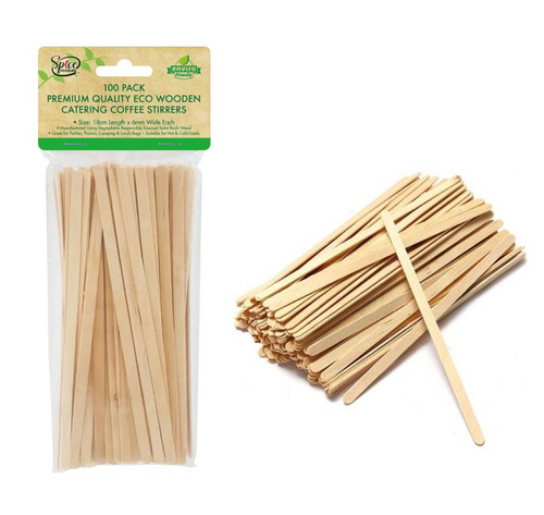 Bamboo Catering Coffee Stirrers 18CM-100PK