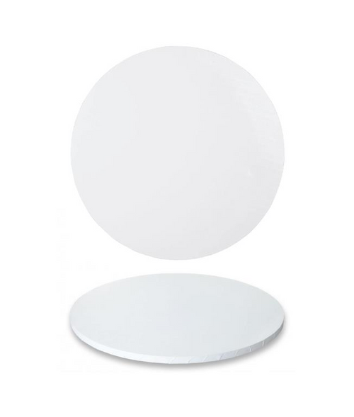 """Premium Heavy Duty Professional Cakeboards (Round) - 8"""" - White Series"""