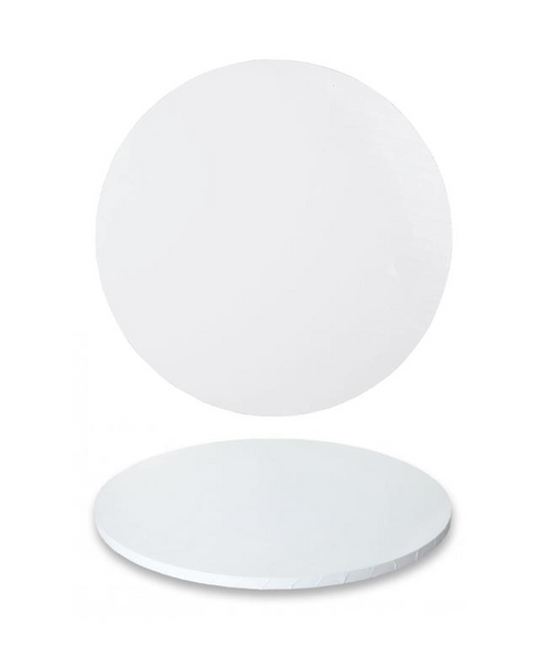 """Premium Heavy Duty Professional Cakeboards (Round) - 10"""" - White Series"""