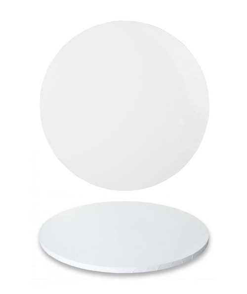 """Premium Heavy Duty Professional Cakeboards (Round) - 12"""" - White Series"""