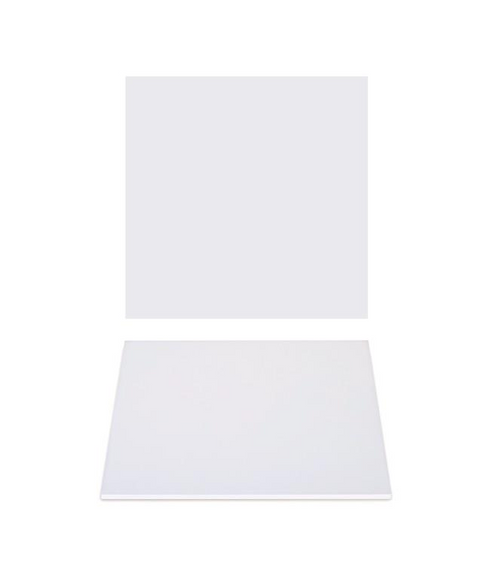 """Premium Heavy Duty Professional Cakeboards (Square) - 8"""" - White Series"""