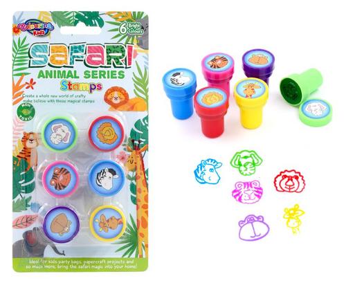 6PK Fun Stamps - Safari Animal Series