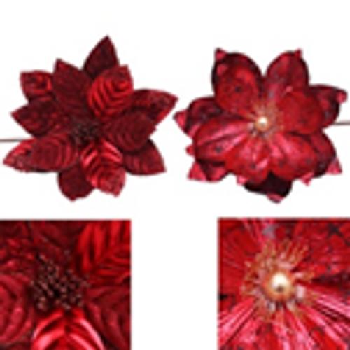 2A BURGUNDY METALLIC FLOWER 50CM STEM